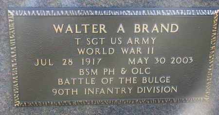 BRAND, WALTER A. (MILITARY MARKER) - Cuming County, Nebraska   WALTER A. (MILITARY MARKER) BRAND - Nebraska Gravestone Photos