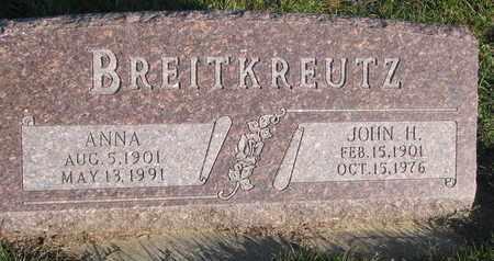 BREITKREUTZ, ANNA - Cuming County, Nebraska | ANNA BREITKREUTZ - Nebraska Gravestone Photos