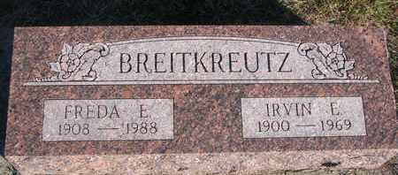 BREITKREUTZ, IRVIN E. - Cuming County, Nebraska   IRVIN E. BREITKREUTZ - Nebraska Gravestone Photos
