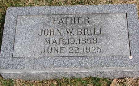 BRILL, JOHN W. - Cuming County, Nebraska   JOHN W. BRILL - Nebraska Gravestone Photos