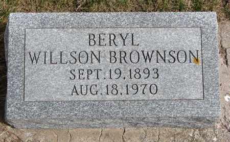 WILLSON BROWNSON, BERYL - Cuming County, Nebraska   BERYL WILLSON BROWNSON - Nebraska Gravestone Photos