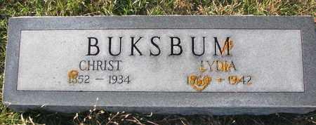 BUKSBUM, LYDIA - Cuming County, Nebraska   LYDIA BUKSBUM - Nebraska Gravestone Photos