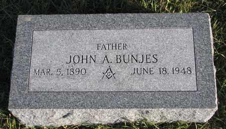 BUNJES, JOHN A. - Cuming County, Nebraska   JOHN A. BUNJES - Nebraska Gravestone Photos