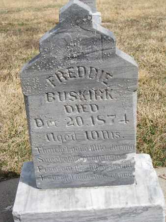 BUSKIRK, FREDDIE - Cuming County, Nebraska   FREDDIE BUSKIRK - Nebraska Gravestone Photos