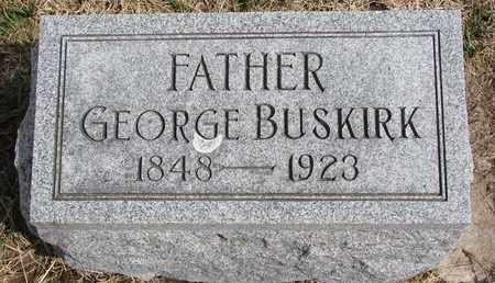 BUSKIRK, GEORGE - Cuming County, Nebraska | GEORGE BUSKIRK - Nebraska Gravestone Photos