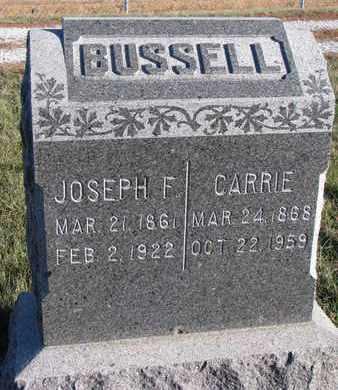 BUSSELL, CARRIE - Cuming County, Nebraska   CARRIE BUSSELL - Nebraska Gravestone Photos