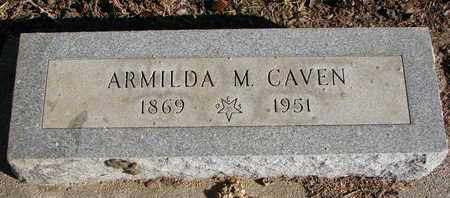 CAVEN, ARMILDA M. - Cuming County, Nebraska   ARMILDA M. CAVEN - Nebraska Gravestone Photos
