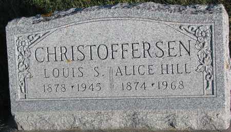 HILL CHRISTOFFERSEN, ALICE - Cuming County, Nebraska | ALICE HILL CHRISTOFFERSEN - Nebraska Gravestone Photos