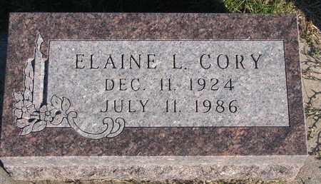CORY, ELAINE L. - Cuming County, Nebraska | ELAINE L. CORY - Nebraska Gravestone Photos