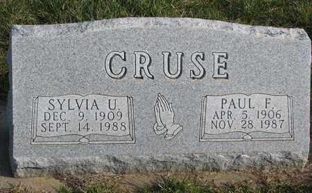 CRUSE, SYLVIA U. - Cuming County, Nebraska   SYLVIA U. CRUSE - Nebraska Gravestone Photos