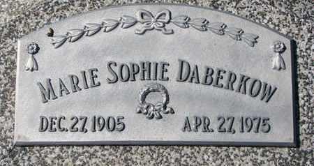 DABERKOW, MARIE SOPHIE - Cuming County, Nebraska   MARIE SOPHIE DABERKOW - Nebraska Gravestone Photos
