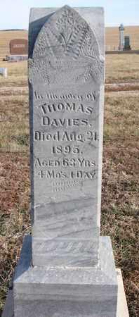 DAVIES, THOMAS - Cuming County, Nebraska | THOMAS DAVIES - Nebraska Gravestone Photos