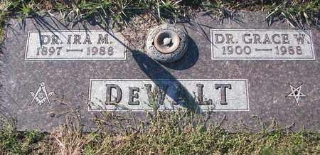 DEWALT, IRA M. (DR.) - Cuming County, Nebraska | IRA M. (DR.) DEWALT - Nebraska Gravestone Photos
