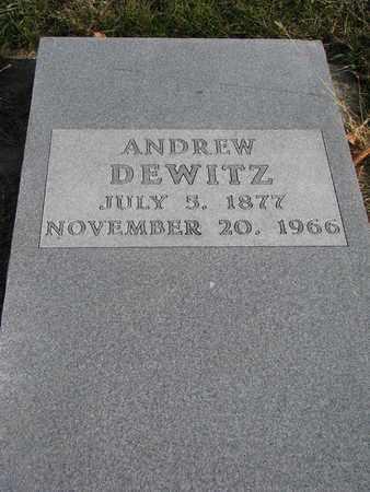 DEWITZ, ANDREW - Cuming County, Nebraska | ANDREW DEWITZ - Nebraska Gravestone Photos