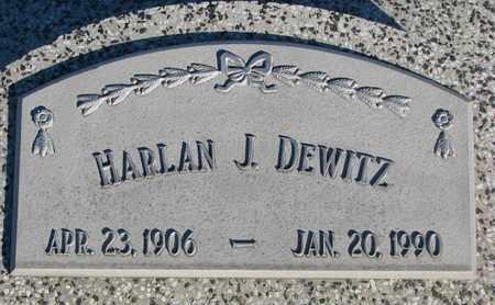 DEWITZ, HARLAN J. - Cuming County, Nebraska   HARLAN J. DEWITZ - Nebraska Gravestone Photos
