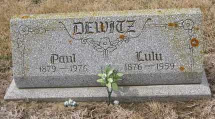 DEWITZ, PAUL - Cuming County, Nebraska | PAUL DEWITZ - Nebraska Gravestone Photos