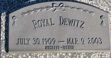DEWITZ, ROYAL - Cuming County, Nebraska | ROYAL DEWITZ - Nebraska Gravestone Photos