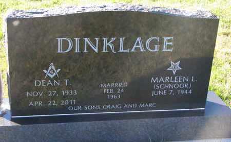 SCHNOOR DINKLAGE, MARLEEN L. - Cuming County, Nebraska   MARLEEN L. SCHNOOR DINKLAGE - Nebraska Gravestone Photos