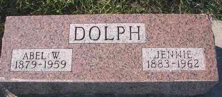 DOLPH, ABEL W. - Cuming County, Nebraska   ABEL W. DOLPH - Nebraska Gravestone Photos