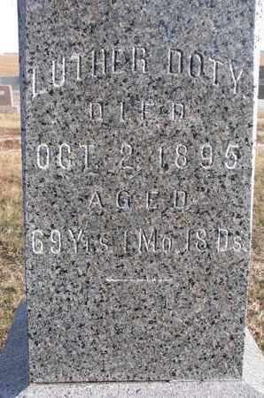 DOTY, LUTHER (CLOSEUP) - Cuming County, Nebraska | LUTHER (CLOSEUP) DOTY - Nebraska Gravestone Photos