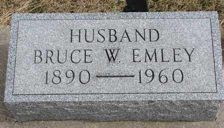 EMLEY, BRUCE W. - Cuming County, Nebraska | BRUCE W. EMLEY - Nebraska Gravestone Photos
