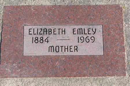 EMLEY, ELIZABETH - Cuming County, Nebraska   ELIZABETH EMLEY - Nebraska Gravestone Photos