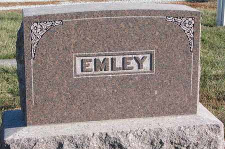 EMLEY, FAMILY STONE - Cuming County, Nebraska   FAMILY STONE EMLEY - Nebraska Gravestone Photos