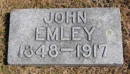 EMLEY, JOHN - Cuming County, Nebraska | JOHN EMLEY - Nebraska Gravestone Photos