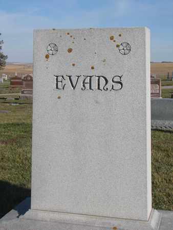 EVANS, (FAMILY MONUMENT) - Cuming County, Nebraska | (FAMILY MONUMENT) EVANS - Nebraska Gravestone Photos