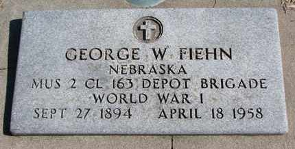 FIEHN, GEORGE W. - Cuming County, Nebraska   GEORGE W. FIEHN - Nebraska Gravestone Photos