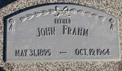 FRAHM, JOHN - Cuming County, Nebraska | JOHN FRAHM - Nebraska Gravestone Photos