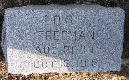 FREEMAN, LOIS E. - Cuming County, Nebraska | LOIS E. FREEMAN - Nebraska Gravestone Photos