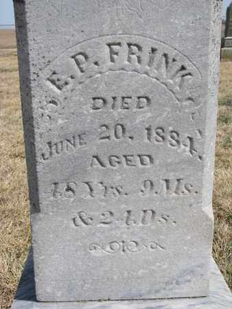 FRINK, E.P. (CLOSEUP) - Cuming County, Nebraska   E.P. (CLOSEUP) FRINK - Nebraska Gravestone Photos