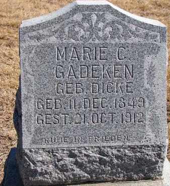 GADEKEN, MARIE C. - Cuming County, Nebraska   MARIE C. GADEKEN - Nebraska Gravestone Photos