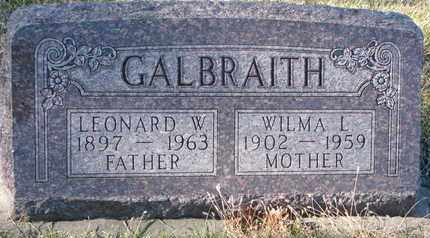 GALBRAITH, WILMA L. - Cuming County, Nebraska | WILMA L. GALBRAITH - Nebraska Gravestone Photos