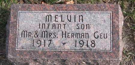 GEU, MELVIN - Cuming County, Nebraska | MELVIN GEU - Nebraska Gravestone Photos