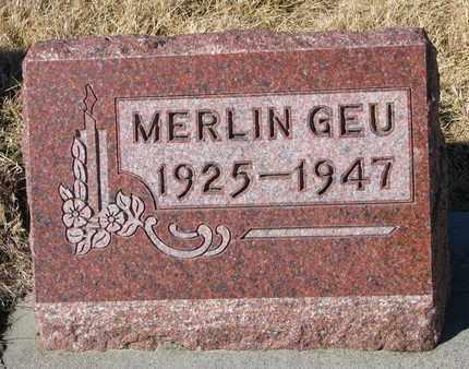 GEU, MERLIN - Cuming County, Nebraska   MERLIN GEU - Nebraska Gravestone Photos