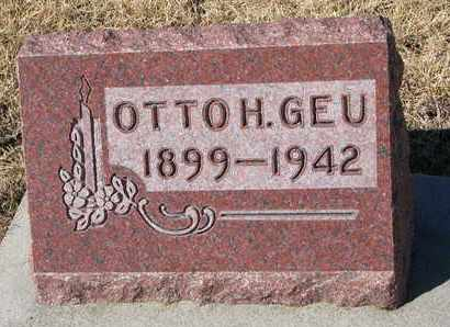 GEU, OTTO H. - Cuming County, Nebraska | OTTO H. GEU - Nebraska Gravestone Photos