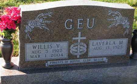 GEU, WILLIS V. - Cuming County, Nebraska | WILLIS V. GEU - Nebraska Gravestone Photos