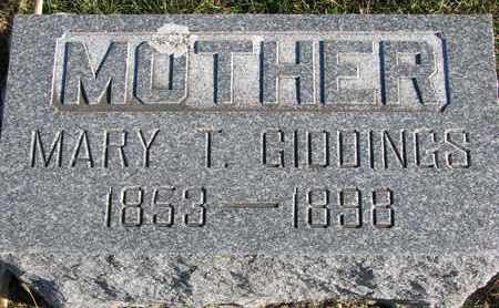 GIDDINGS, MARY T. - Cuming County, Nebraska | MARY T. GIDDINGS - Nebraska Gravestone Photos