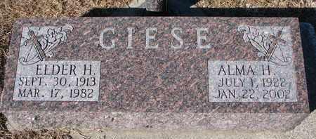 GIESE, ELDER H. - Cuming County, Nebraska | ELDER H. GIESE - Nebraska Gravestone Photos