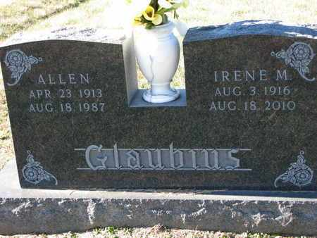 GLAUBIUS, ALLEN - Cuming County, Nebraska | ALLEN GLAUBIUS - Nebraska Gravestone Photos