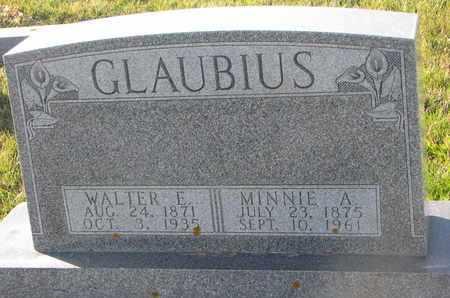 GLAUBIUS, WALTER E. - Cuming County, Nebraska   WALTER E. GLAUBIUS - Nebraska Gravestone Photos