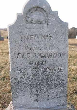 GORDON, INFANT - Cuming County, Nebraska | INFANT GORDON - Nebraska Gravestone Photos