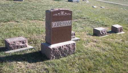 GOREHAM, FAMILY PLOT - Cuming County, Nebraska   FAMILY PLOT GOREHAM - Nebraska Gravestone Photos