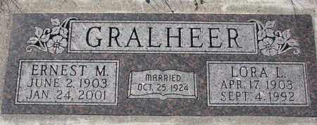 GRALHEER, LORA L. - Cuming County, Nebraska | LORA L. GRALHEER - Nebraska Gravestone Photos