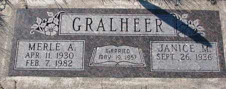 GRALHEER, MERLE A. - Cuming County, Nebraska   MERLE A. GRALHEER - Nebraska Gravestone Photos