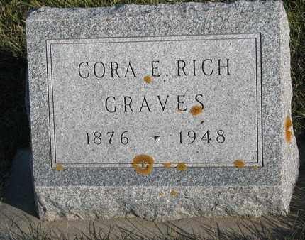 GRAVES, CORA E. - Cuming County, Nebraska   CORA E. GRAVES - Nebraska Gravestone Photos