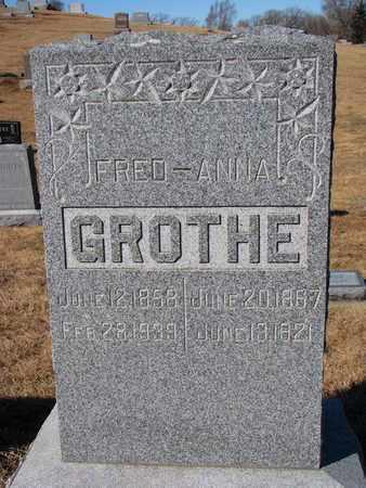 GROTHE, ANNA - Cuming County, Nebraska   ANNA GROTHE - Nebraska Gravestone Photos