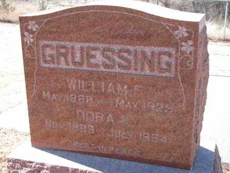 GRUESSING, WILLIAM F. - Cuming County, Nebraska | WILLIAM F. GRUESSING - Nebraska Gravestone Photos